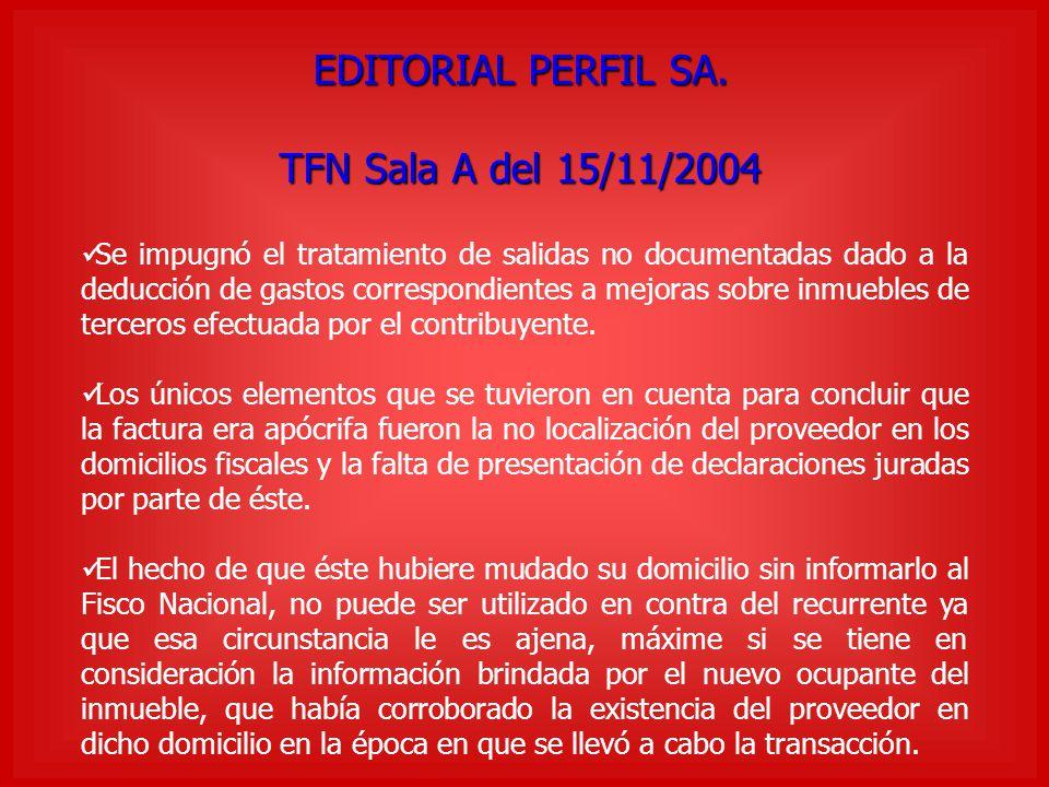 EDITORIAL PERFIL SA. TFN Sala A del 15/11/2004