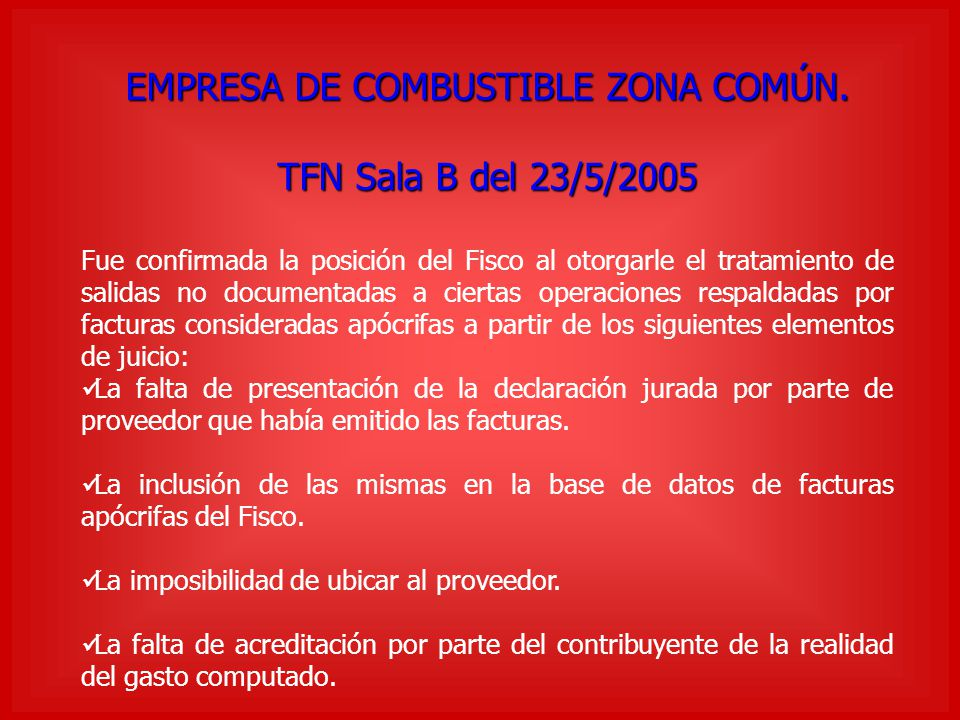 EMPRESA DE COMBUSTIBLE ZONA COMÚN.