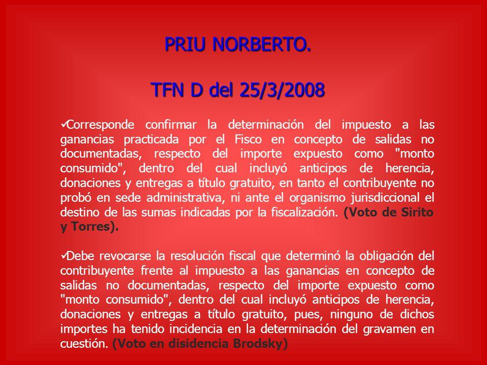 PRIU NORBERTO. TFN D del 25/3/2008