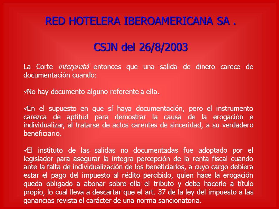 RED HOTELERA IBEROAMERICANA SA .