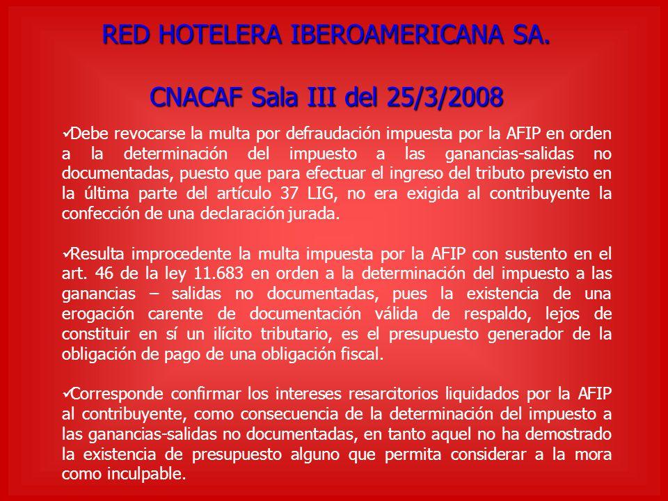 RED HOTELERA IBEROAMERICANA SA.