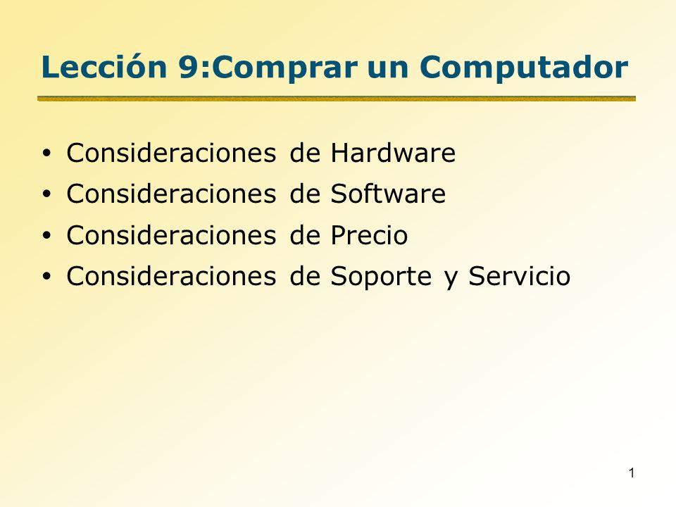 Lección 9:Comprar un Computador