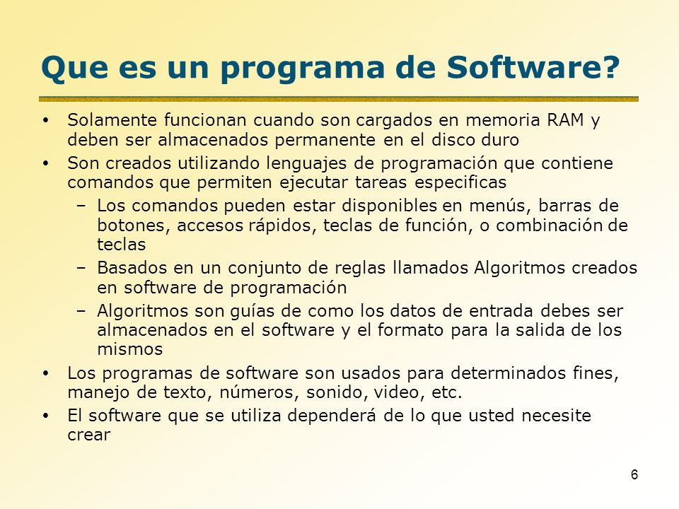 Que es un programa de Software