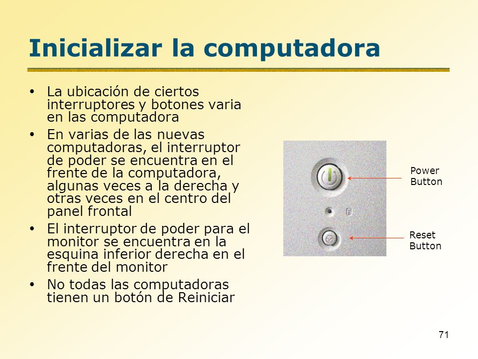 Inicializar la computadora