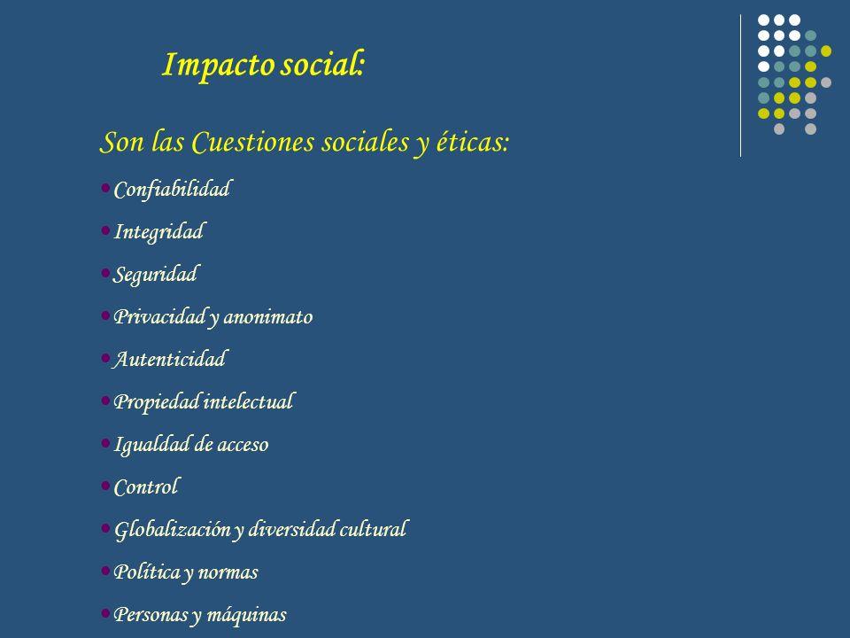 Impacto social: Son las Cuestiones sociales y éticas: Confiabilidad