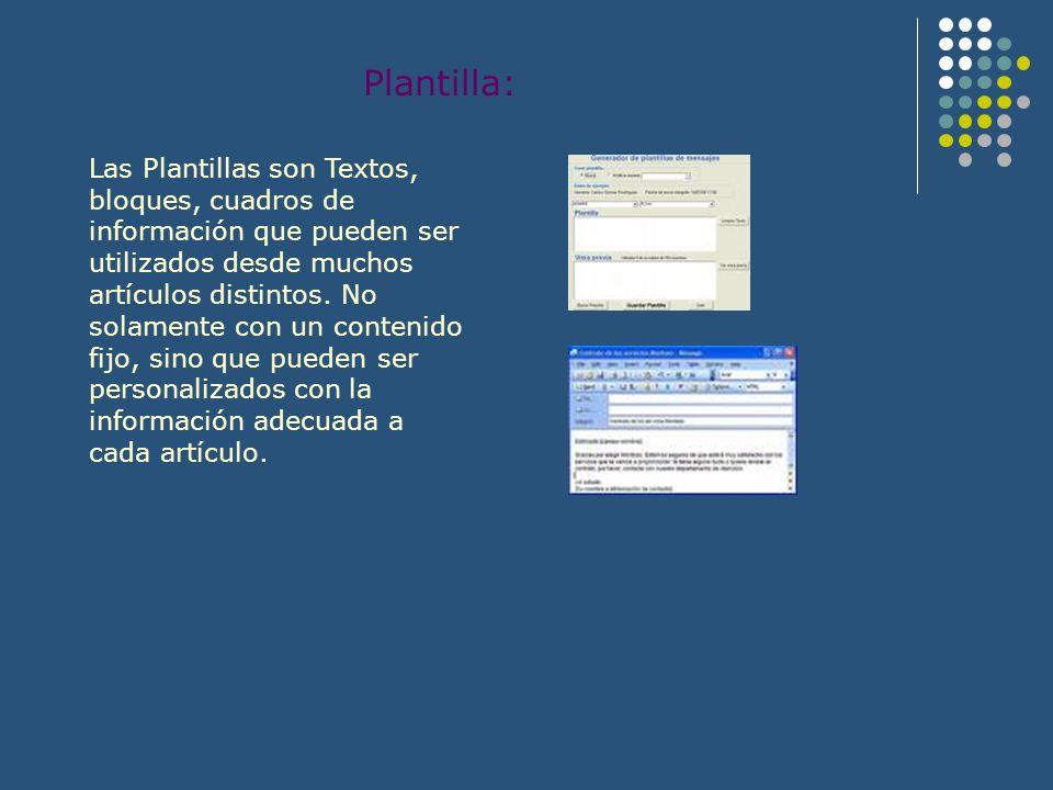 Plantilla:
