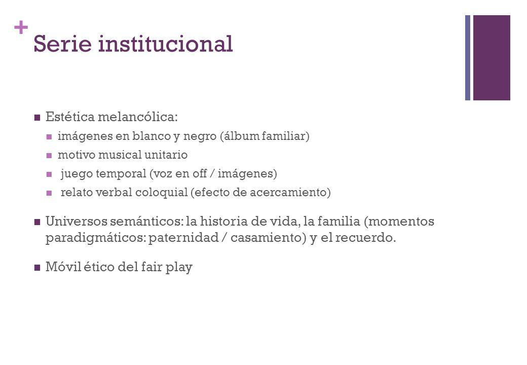 Serie institucional Estética melancólica: