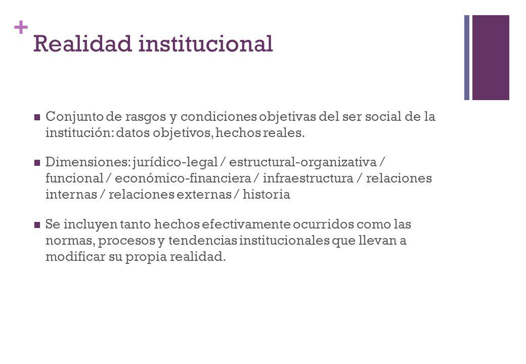 Realidad institucional