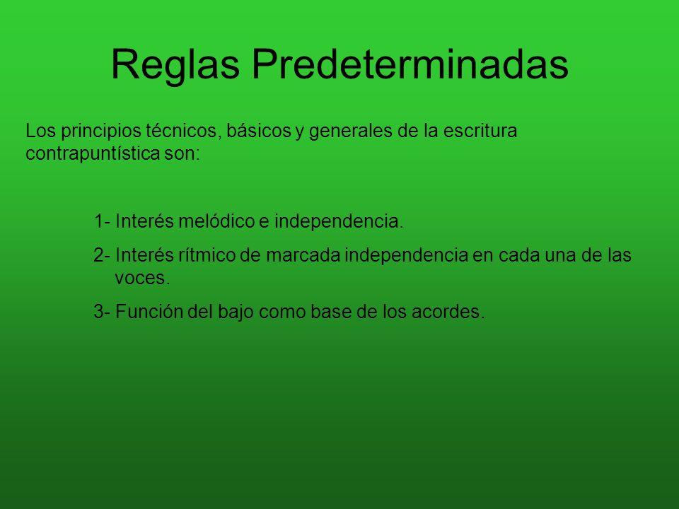 Reglas Predeterminadas