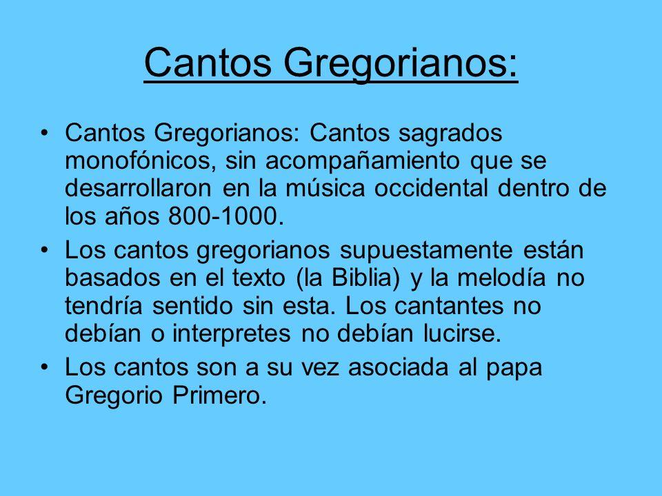 Cantos Gregorianos: