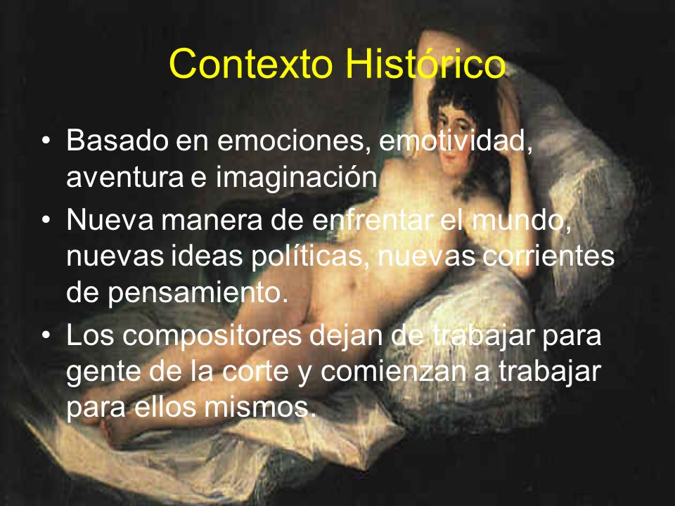 Contexto Histórico Basado en emociones, emotividad, aventura e imaginación.