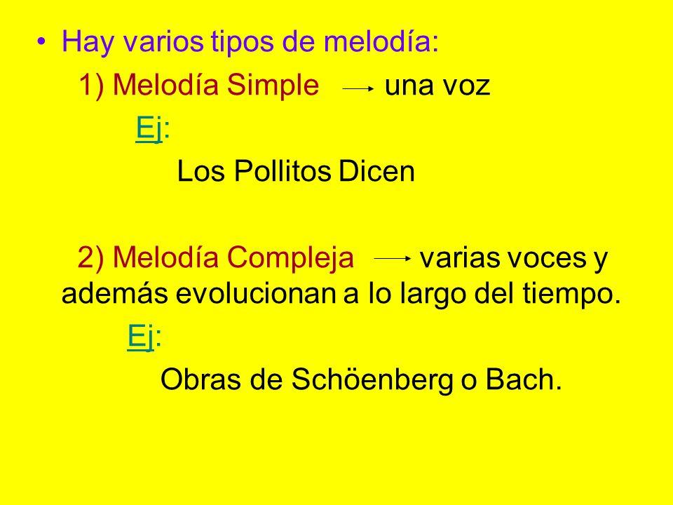 Hay varios tipos de melodía: