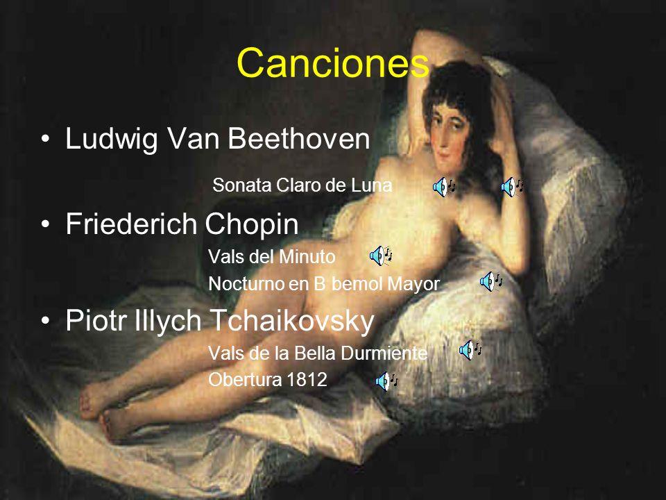 Canciones Ludwig Van Beethoven Sonata Claro de Luna Friederich Chopin
