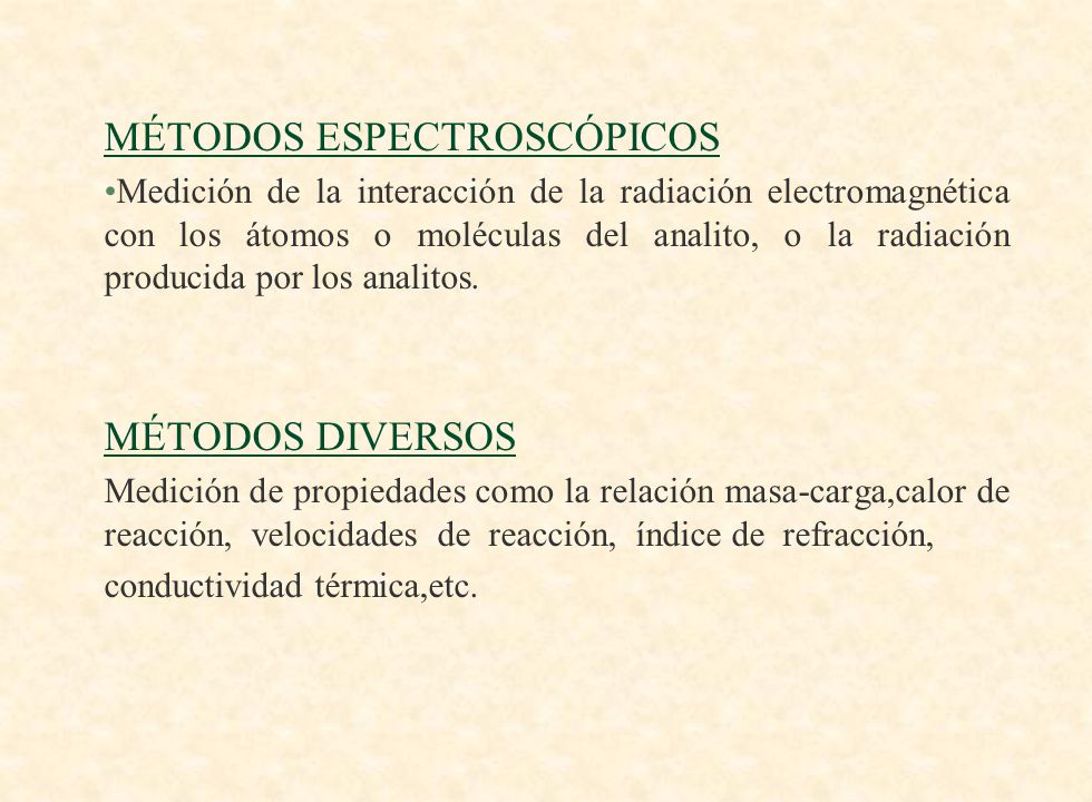 MÉTODOS ESPECTROSCÓPICOS