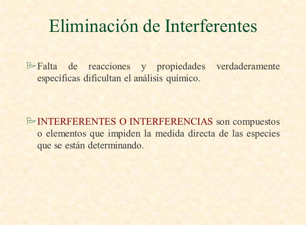 Eliminación de Interferentes