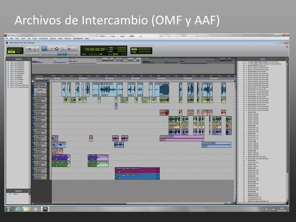 Archivos de Intercambio (OMF y AAF)