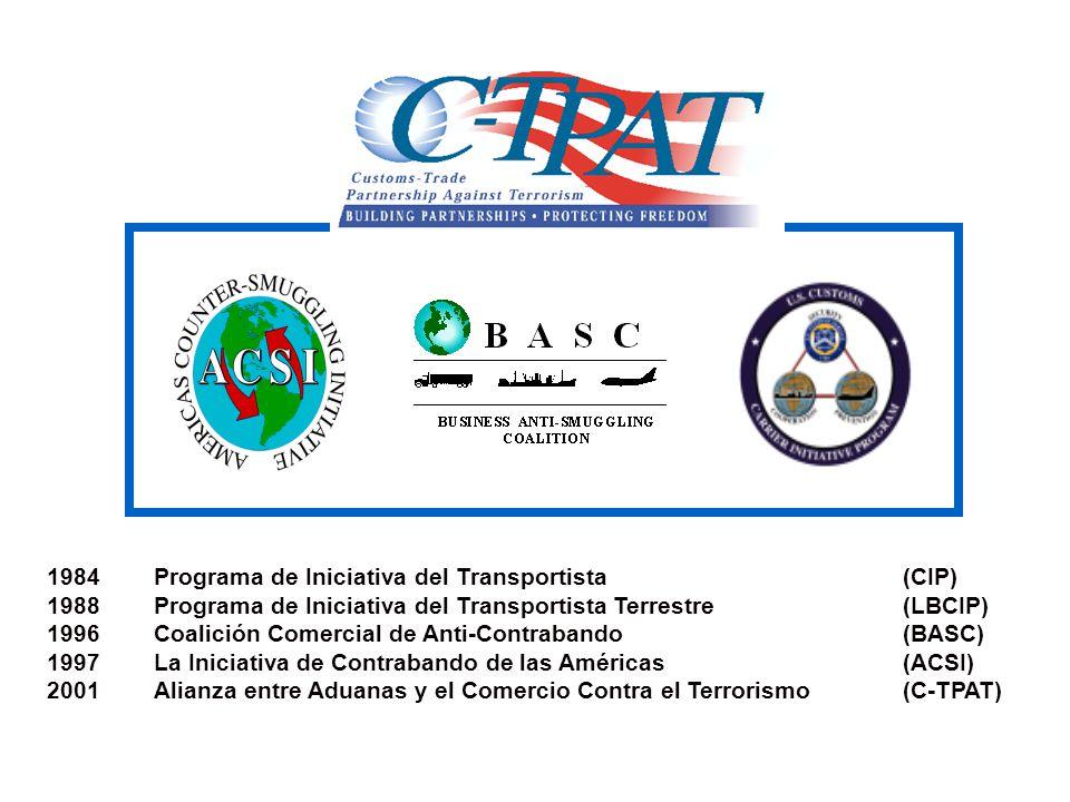 1984 Programa de Iniciativa del Transportista (CIP)