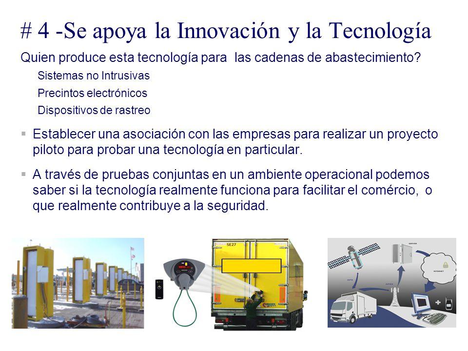 # 4 -Se apoya la Innovación y la Tecnología