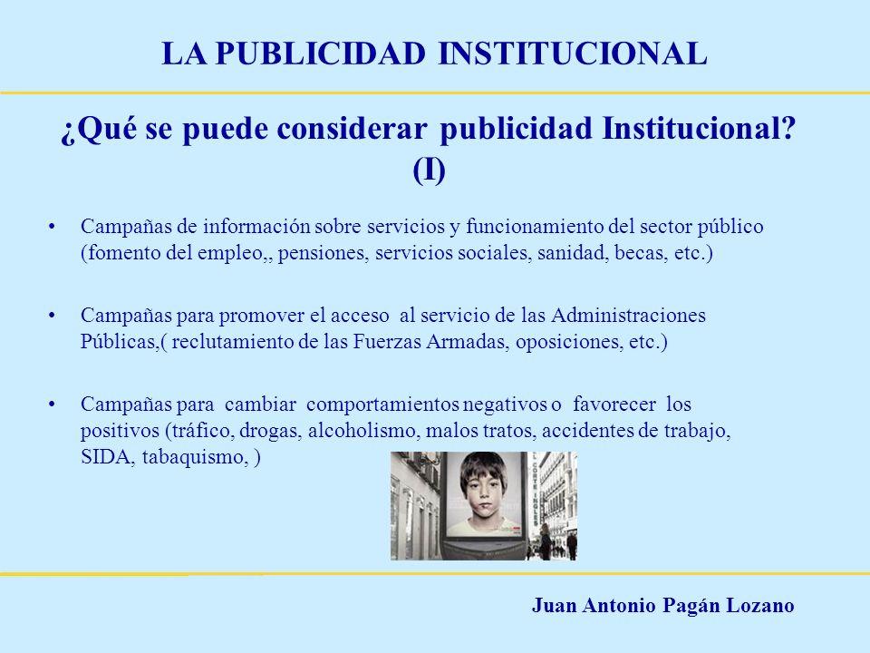 ¿Qué se puede considerar publicidad Institucional (I)