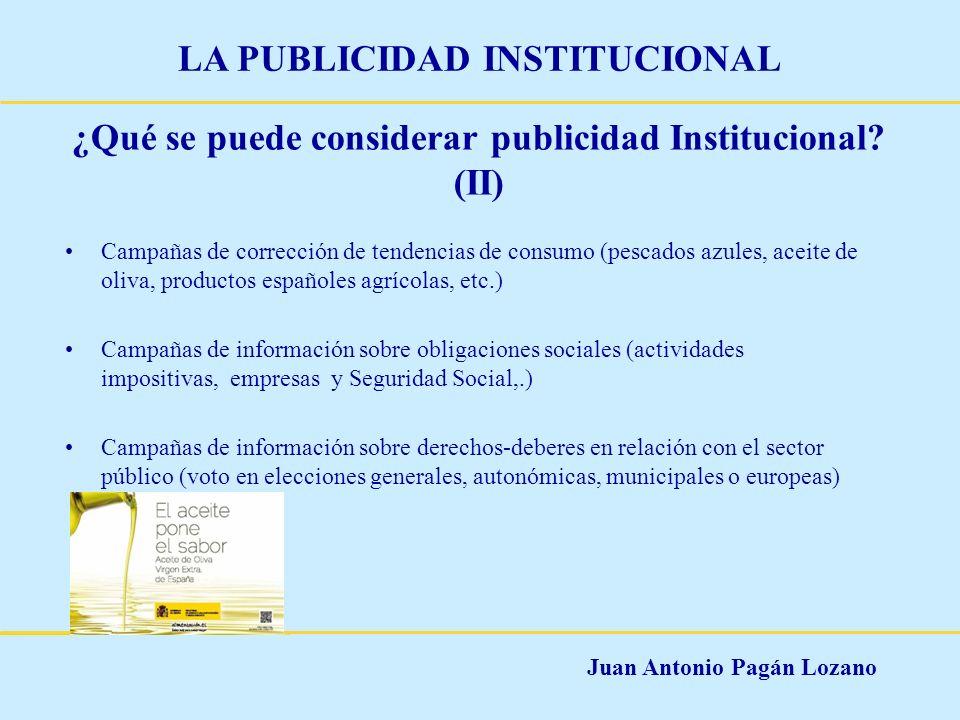 ¿Qué se puede considerar publicidad Institucional (II)