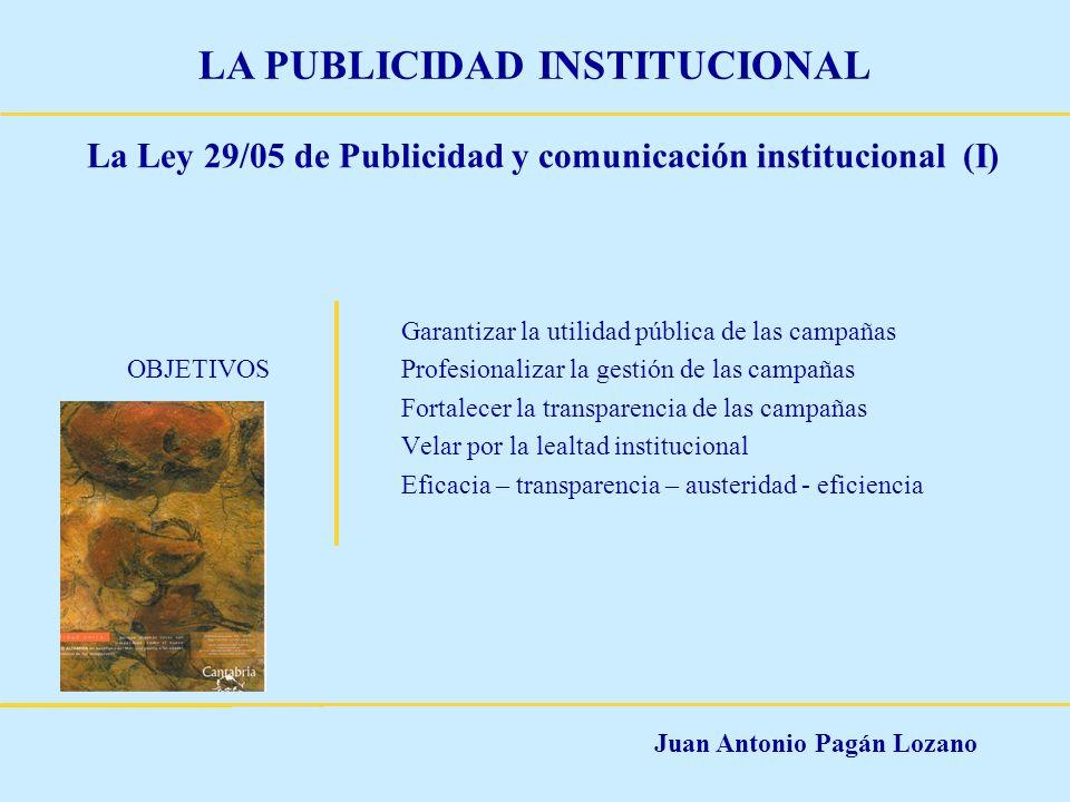 La Ley 29/05 de Publicidad y comunicación institucional (I)