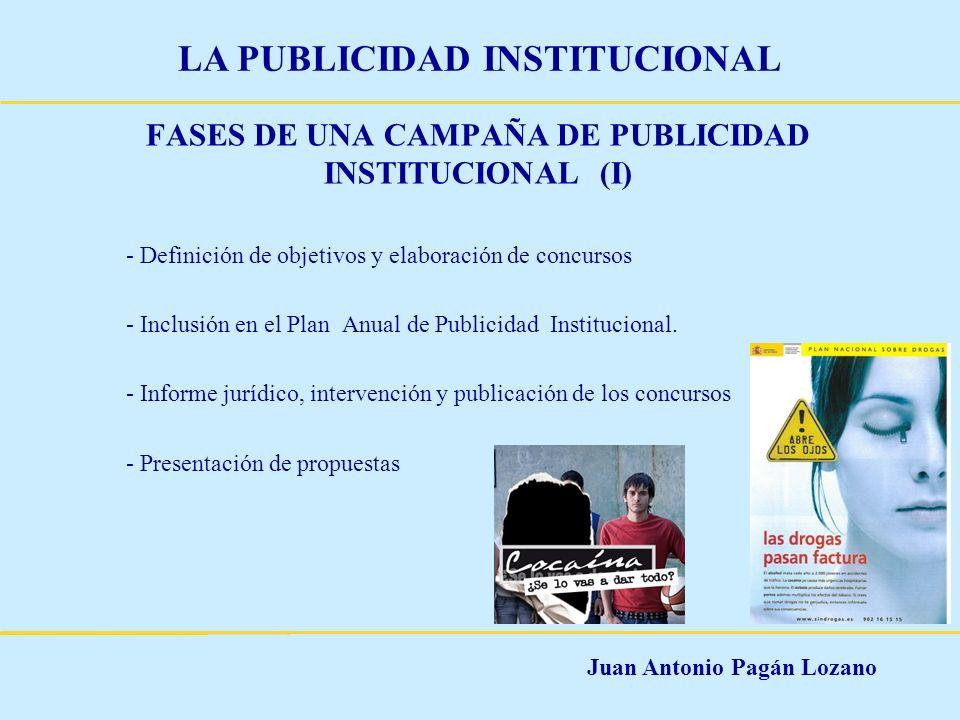 FASES DE UNA CAMPAÑA DE PUBLICIDAD INSTITUCIONAL (I)