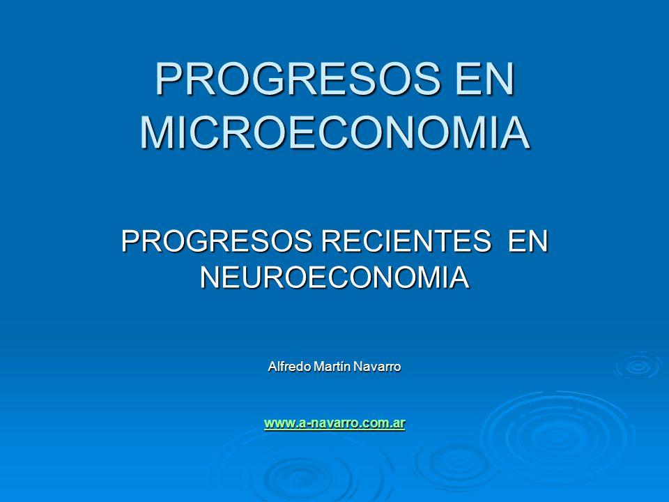 PROGRESOS EN MICROECONOMIA