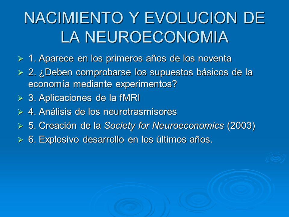NACIMIENTO Y EVOLUCION DE LA NEUROECONOMIA