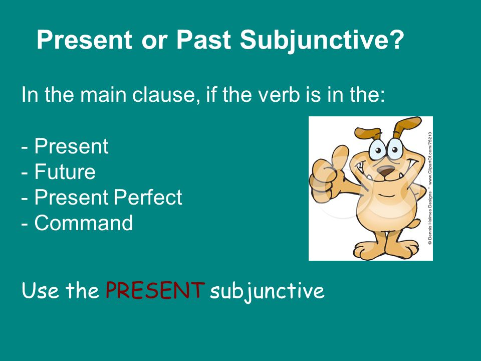 Present or Past Subjunctive