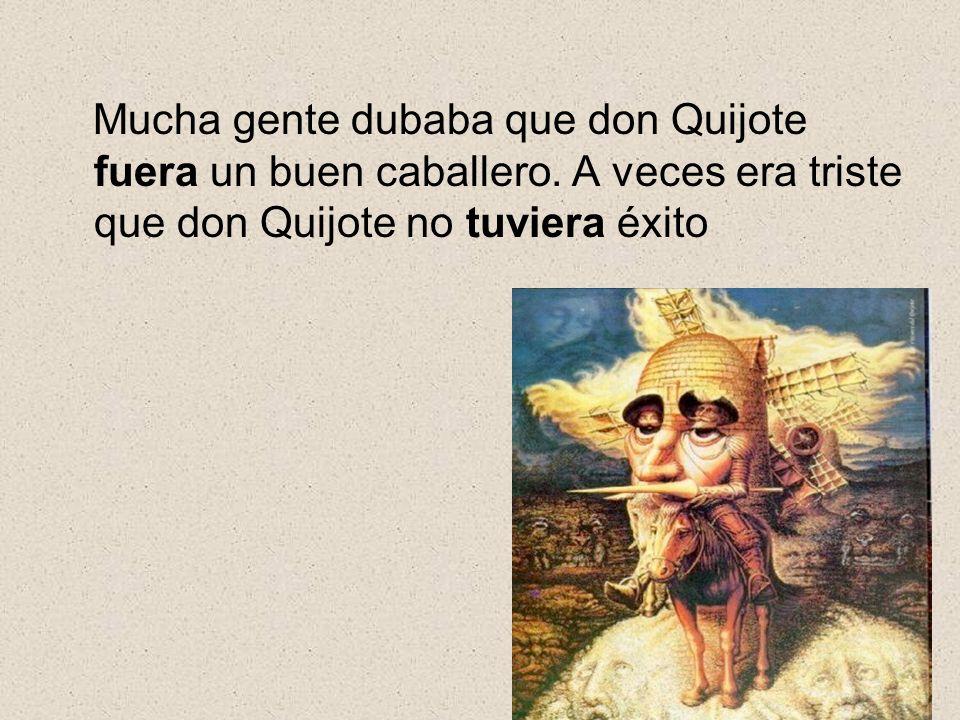 Mucha gente dubaba que don Quijote fuera un buen caballero