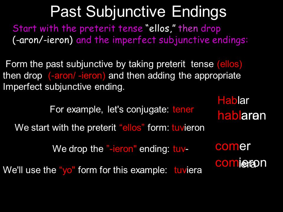 Past Subjunctive Endings