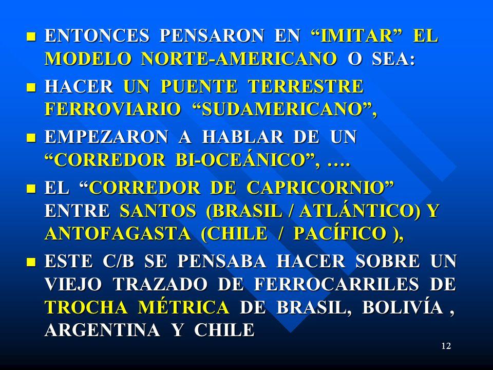 ENTONCES PENSARON EN IMITAR EL MODELO NORTE-AMERICANO O SEA: