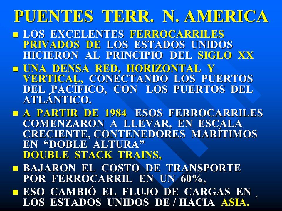 PUENTES TERR. N. AMERICA LOS EXCELENTES FERROCARRILES PRIVADOS DE LOS ESTADOS UNIDOS HICIERON AL PRINCIPIO DEL SIGLO XX.