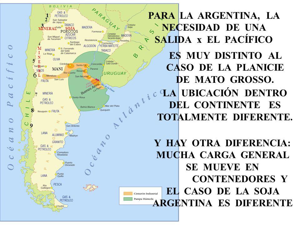 PARA LA ARGENTINA, LA NECESIDAD DE UNA SALIDA x EL PACÍFICO