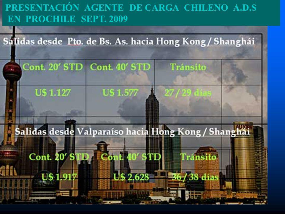 PRESENTACIÓN AGENTE DE CARGA CHILENO A.D.S