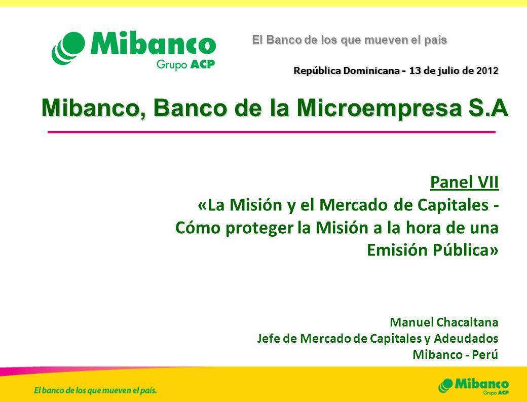 Mibanco, Banco de la Microempresa S.A