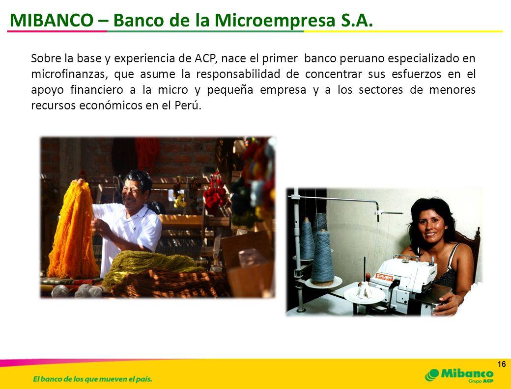 MIBANCO – Banco de la Microempresa S.A.