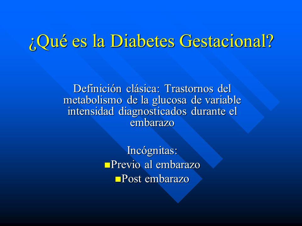 ¿Qué es la Diabetes Gestacional