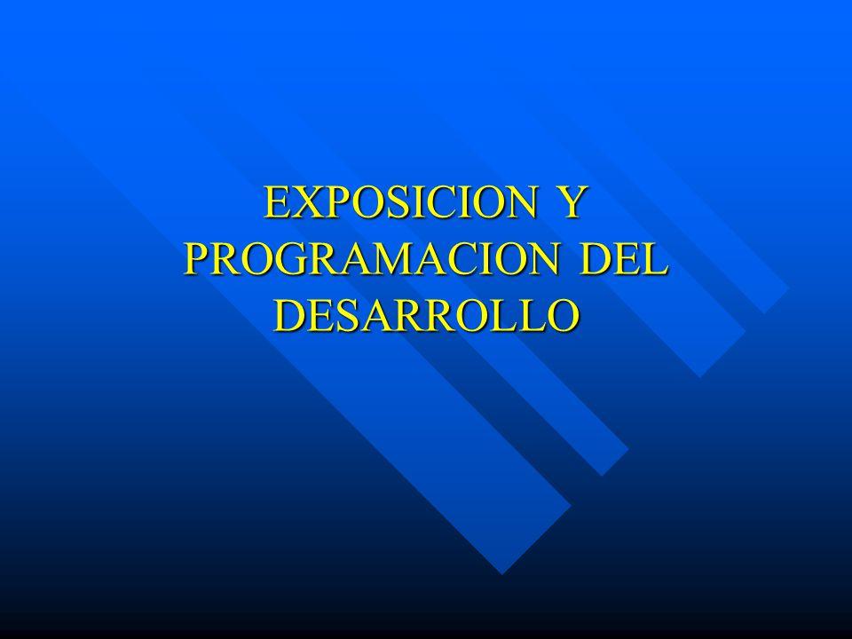 EXPOSICION Y PROGRAMACION DEL DESARROLLO