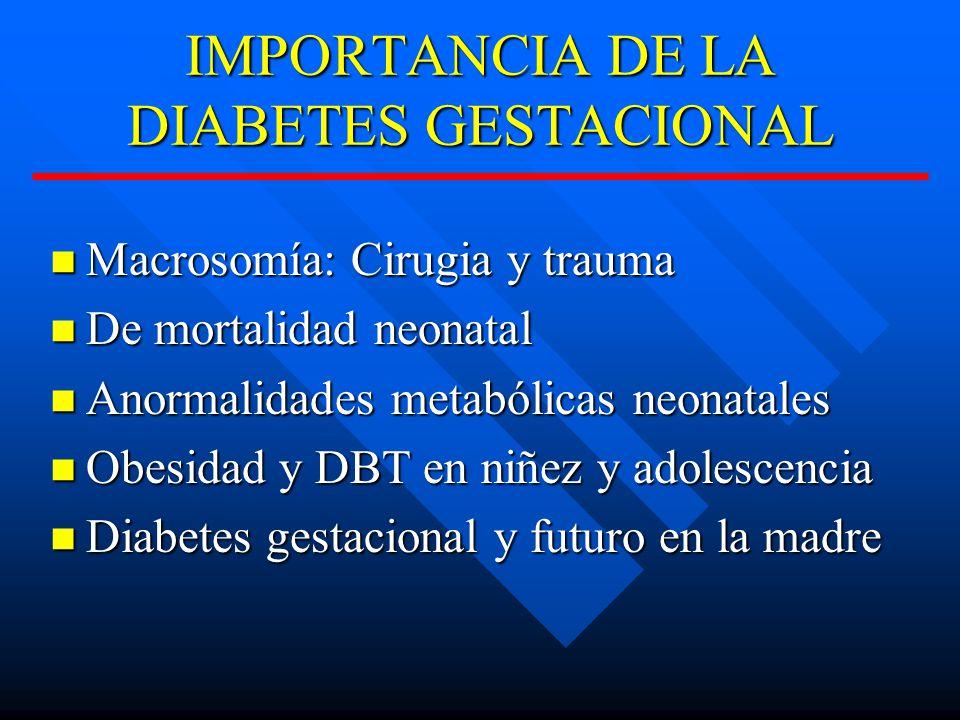 IMPORTANCIA DE LA DIABETES GESTACIONAL