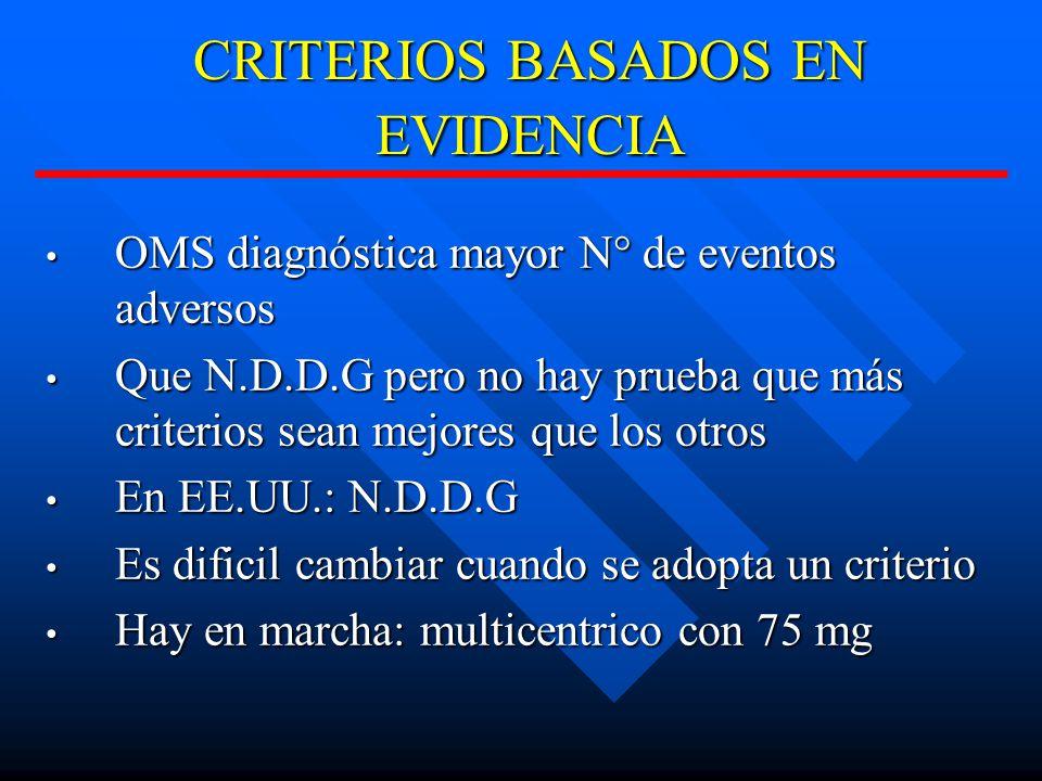 CRITERIOS BASADOS EN EVIDENCIA