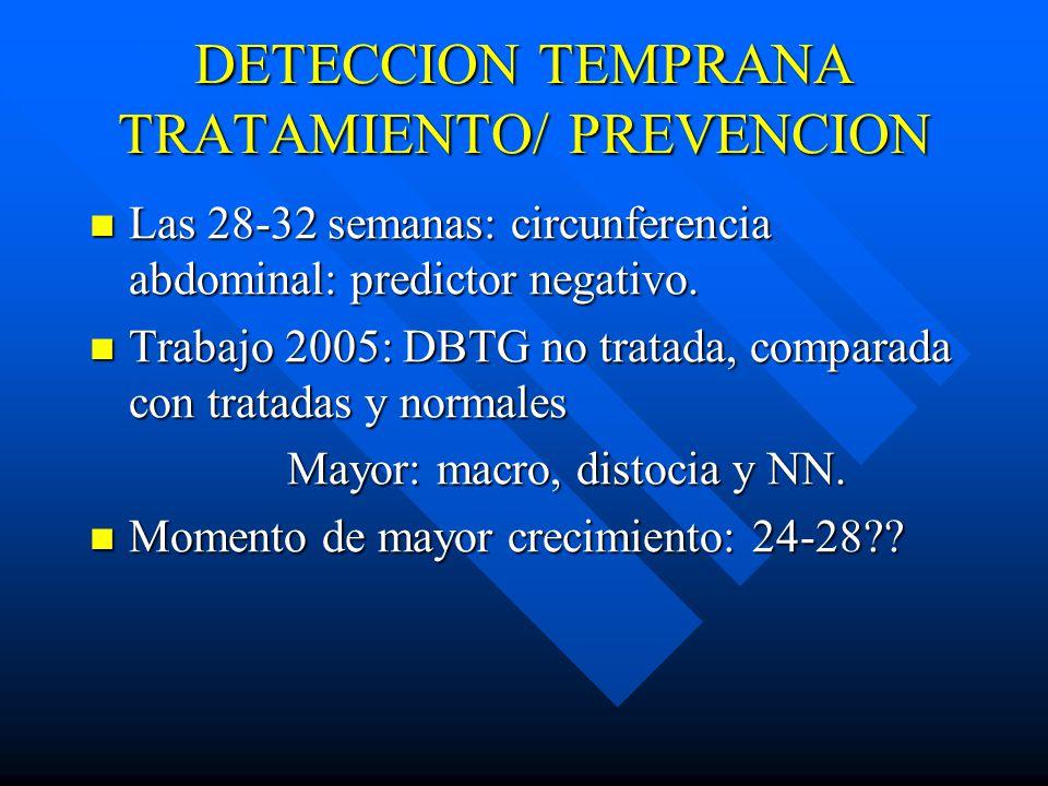 DETECCION TEMPRANA TRATAMIENTO/ PREVENCION