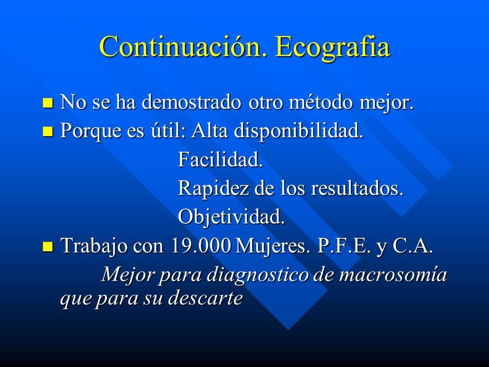 Continuación. Ecografia