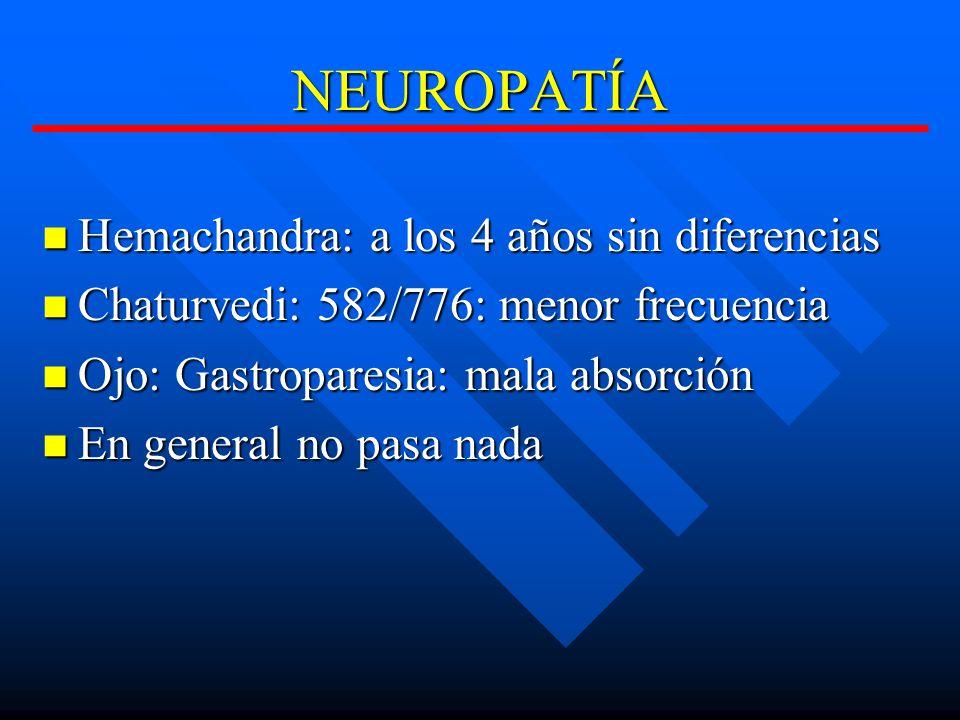 NEUROPATÍA Hemachandra: a los 4 años sin diferencias