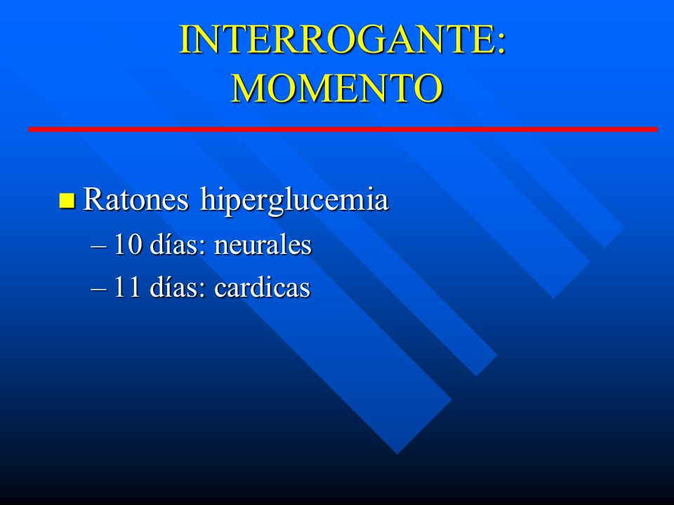 INTERROGANTE: MOMENTO