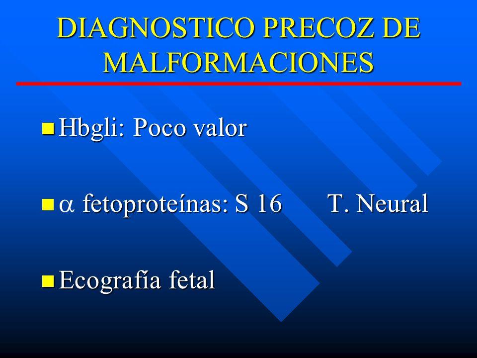 DIAGNOSTICO PRECOZ DE MALFORMACIONES