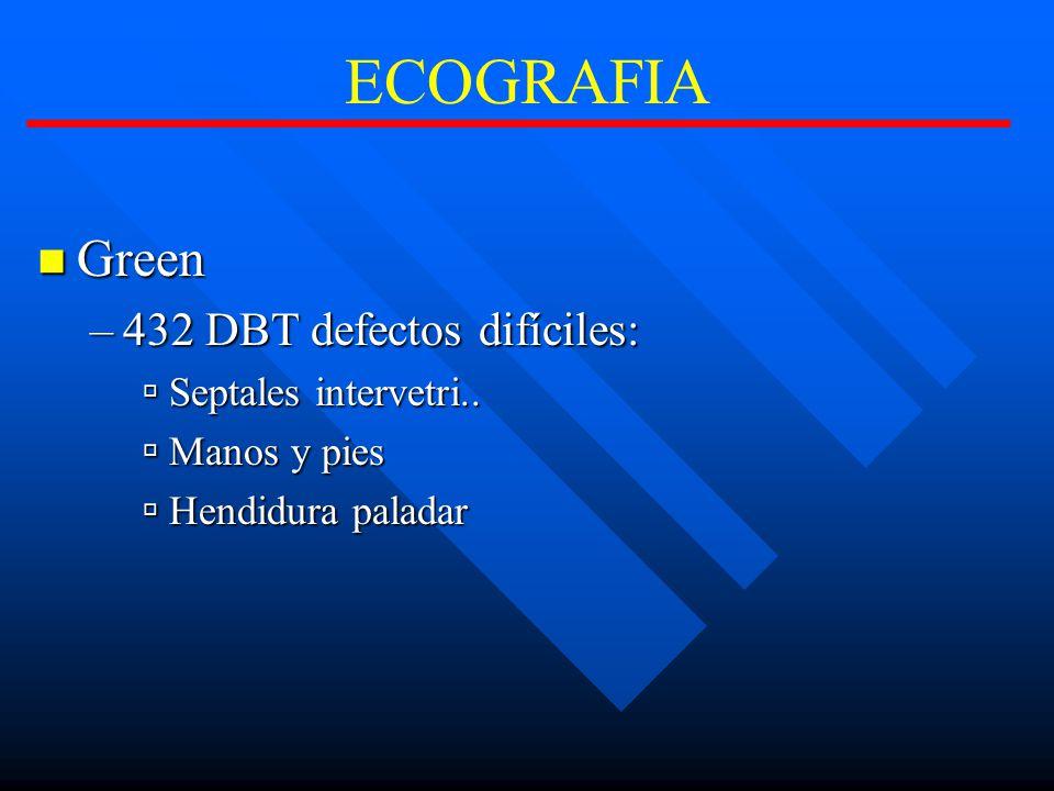 ECOGRAFIA Green 432 DBT defectos difíciles: Septales intervetri..