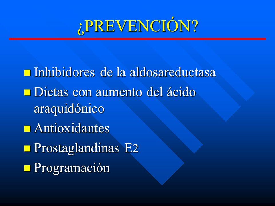 ¿PREVENCIÓN Inhibidores de la aldosareductasa