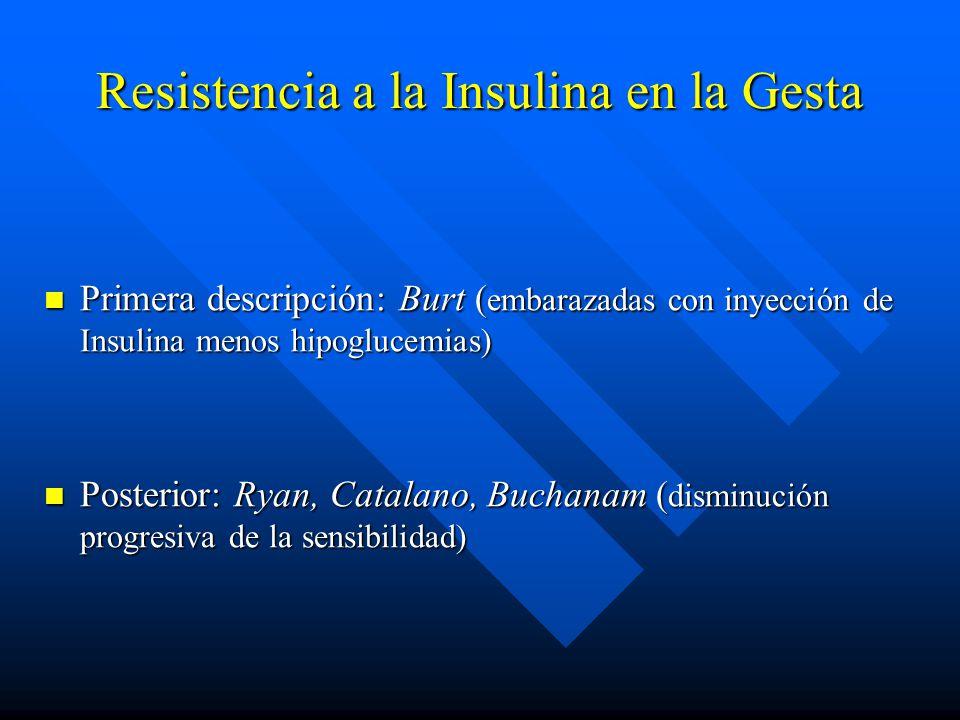 Resistencia a la Insulina en la Gesta