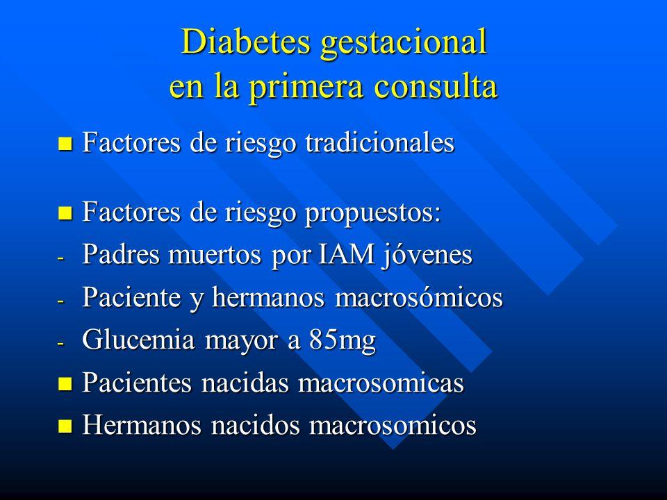Diabetes gestacional en la primera consulta